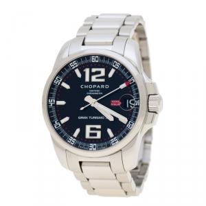 Chopard Black Stainless Steel Mille Miglia Gran Turismo XL 8997 Men's Wristwatch 44 mm