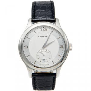 Chopard Silver Luc In House Movement Steel Chronometer Automatic Men'S Watch 42MM