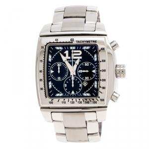 Chopard Black Stainless Steel Two O Ten 158462-3001 Men's Wristwatch 39 mm