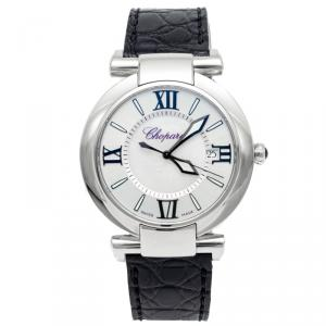 Chopard White Mother Of Pearl Imperiale Stainless Steel & Leather Watch 40MM