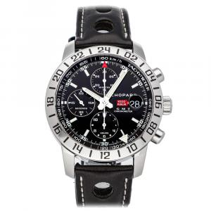 Chopard Black Stainless Steel Mille Miglia GMT Chronograph 168992-3001 Men's Wristwatch 42 MM