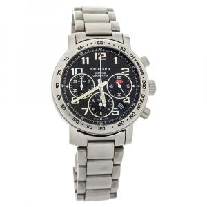 """ساعة يد رجالية شوبارد """"ميلي ميغليا كرونوغراف 15/8915"""" تيتانيوم سوداء 39 مم"""