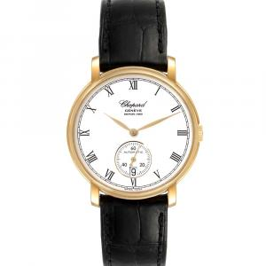 Chopard White 18K Yellow Gold Classique 1223 Men's Wristwatch 36 MM