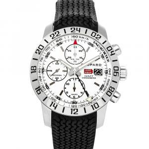 Chopard White Stainless Steel Mille Miglia GMT 168992-3003 Men's Wristwatch 42 MM