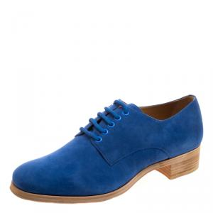 Christian Louboutin Blue Suede Chorale Lace Up Derby Size Size 42