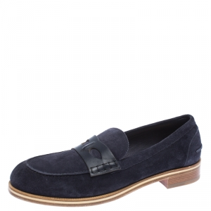 Christian Louboutin Blue Suede Montezumolle Flat loafer Size 44