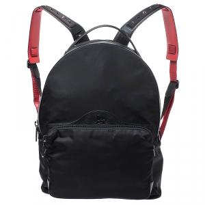 Christian Louboutin Black Nylon Backloubi Backpack