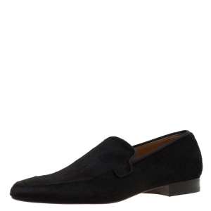 Christian Louboutin Black Pony Hair Loafers Size 42
