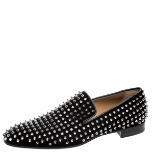 Christian Louboutin Black Dandelion Spikes Loafer Size 43