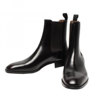 Christian Louboutin Black Leather Boots Size 43