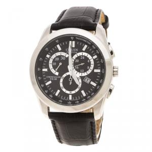 Citizen Black Stainless Steel AT1180-05E Eco Drive Chronograph Men's Wristwatch 42MM