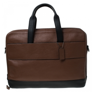 Coach Brown Leather Ultimate Briefcase