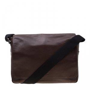Coach Brown Leather Metropolitan Courier Messenger Bag
