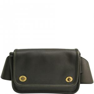 Coach Khaki Leather Fanny Pack