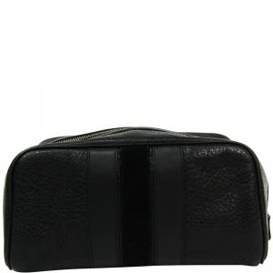 Coach Black Leather Pouch Bag