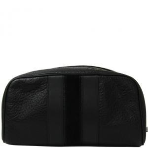 Coach Black Leather Pouch Bag