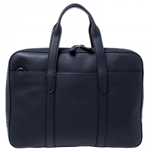 Coach Navy Blue Leather Metropolitan Soft Briefcase Bag