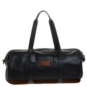 حقيبة جيم كوتش ميتروبوليتان مضلعة و مجددة ناعمة جلد و نوبوك أسود و بني