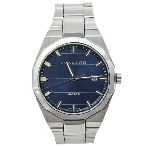 Concord Blue Stainless Steel Mariner CC.05.1.14.1093 Men's Wristwatch 41 mm