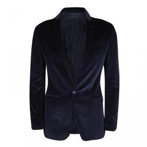 D&G Blue Velvet Tailored Blazer S