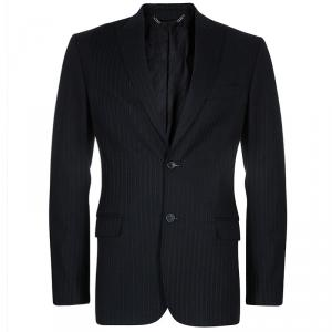 D&G Men's Black Striped Blazer M/L