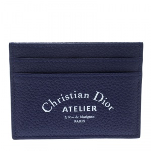 Dior Blue Leather Card Holder
