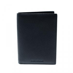 Dior Homme Navy Blue Leather Bi Fold Wallet