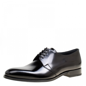 Dior Black Leather Lace Up Derby Size 41