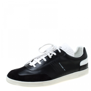 Dior Homme Monochrome Leather And Suede Sneakers Size 44