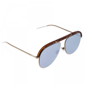 Dior Brown/Dark Mirror Desertie Aviator Sunglasses