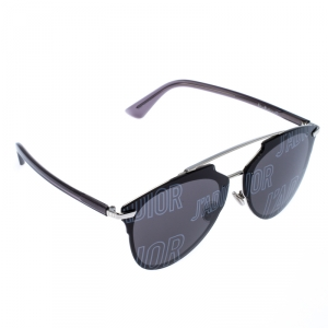 Dior Silver/Black Reflected P Double Bridge Sunglasses