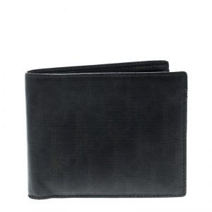 Dior Black Diorissimo Coated Canvas Bifold Wallet