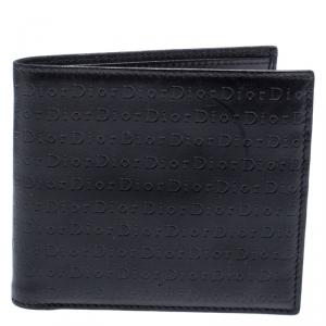Dior Black Monogram Leather Bifold Wallet