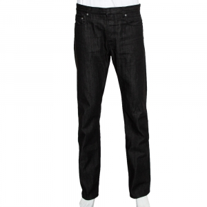 Dior Homme Black Denim Wide Leg Jeans XL