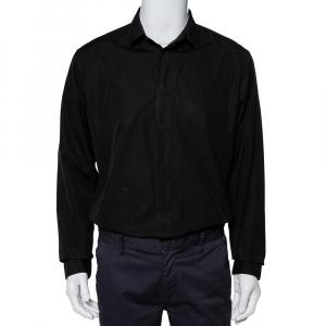 قميص ديور هوم قطن أزرق بأزرار أمامية مقاس كبير جدًا جدًا - إكس إكس لارج