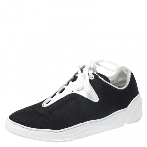 Dior Homme Black Canvas And Leather B17 Sneakers Size 39.5