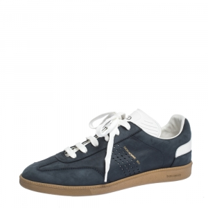 Dior Navy Blue Nubuck and Leather B01 Low Top Sneakers Size 40