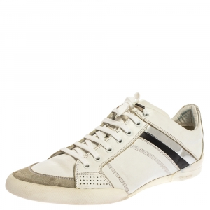 Dior Homme White Leather Low Top Sneakers Size 43