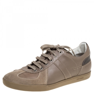 Dior Beige Suede And Leather Homme Sneakers Size 41.5