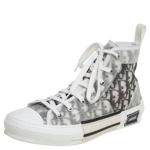 حذاء رياضي ديورأوبليك هاي توب شبكة B23 أبيض ورمادي مقاس 40