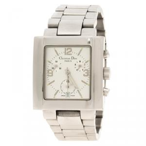 Dior Silver Stainless Steel Riva Men's Wristwatch 34 mm