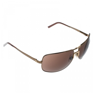 Dolce and Gabbana Bronze/Brown DG2009 Aviator Sunglasses