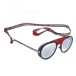 نظارة شمسية دولتشي آند غابانا ماديسون دي جي كاب كولكشن رصاصية/ فضية عاكسة