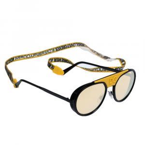 Dolce & Gabbana Mirror Orange/Matte Black DG2210 Madison DG Cup Collection Sunglasses