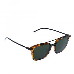 Dolce & Gabbana Havana Camel/Green DG4327F Sunglasses
