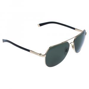 Dolce & Gabbana Green Polarized/Pale Gold Sand DG2133K Sunglasses