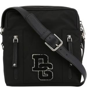 Dolce and Gabbana Black Nylon Messenger Bag