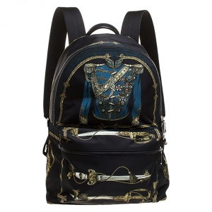 Dolce & Gabbana Black Nylon Knight Uniform Backpack