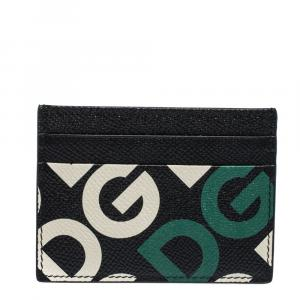 Dolce & Gabbana Multicolor DG Mania Print Leather Card Holder