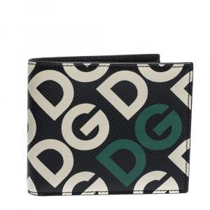 Dolce & Gabbana Multicolor DG Mania Print Leather Bifold Wallet